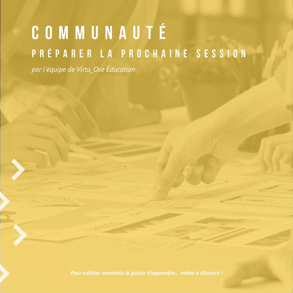 Lien vers la formation et la communauté : préparer la prochaine session